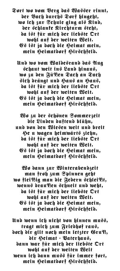 Hirschfelder Heimatlied